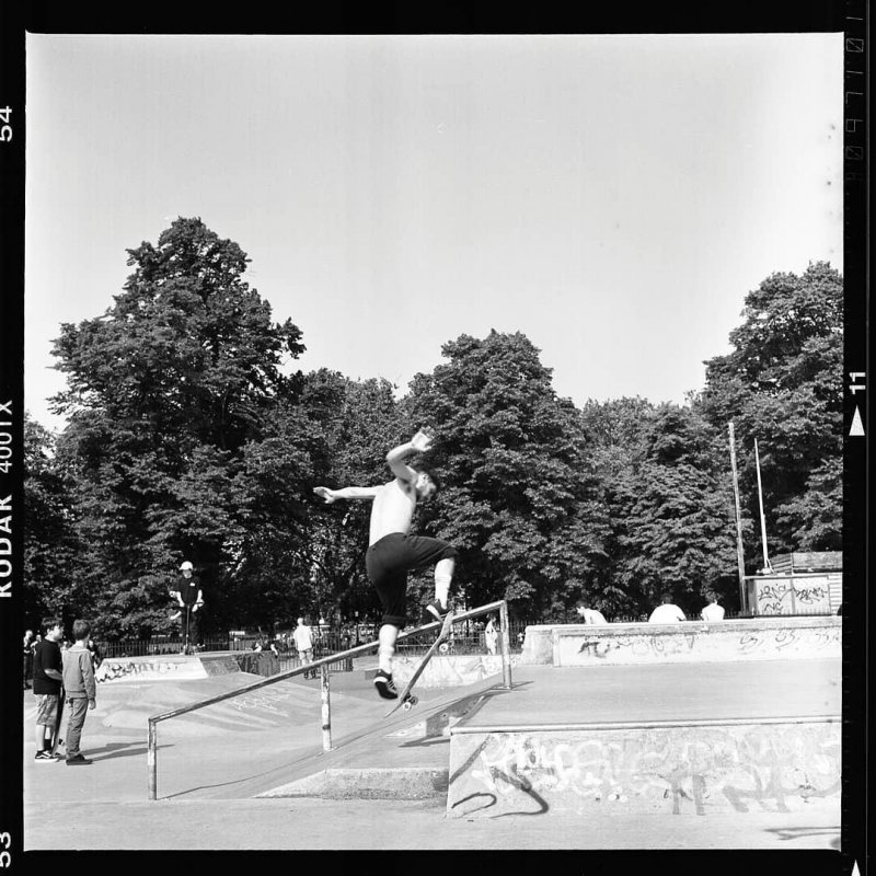 Skater at the Clapham Common skatepark.