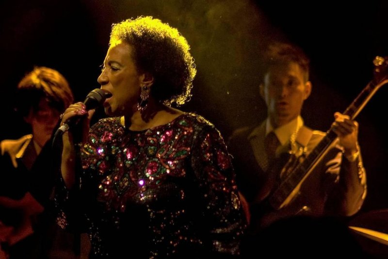 Marva Whitney, aka Soul Sister performing with the Osaka Monaurail in Andrews Lane Theater (now Hangar) in Dublin, Ireland, 2008.  #latergram  #gigstagram  #dublin #livemusic  #soulsisternumber1  #nikond50 #osakamonaurail