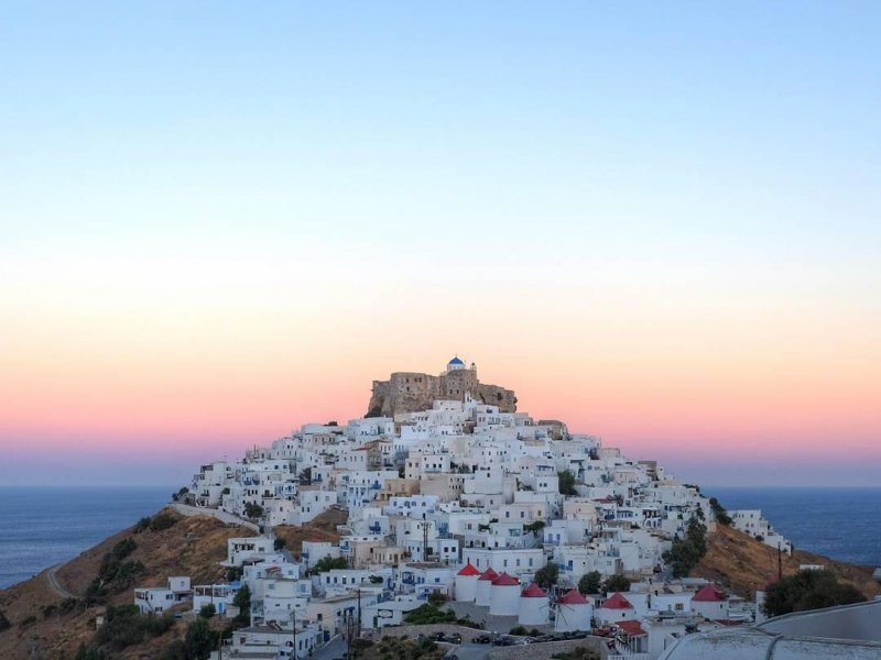 Blue hour on Chora Astypalaia